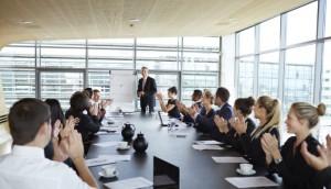 Presentation skills boardroom